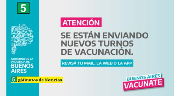 El Gobierno Bonaerense envió más de medio millón de turnos para segundas dosis de vacunas pediátricas contra el coronavirus