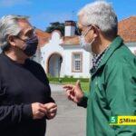 El ministro Domínguez se reunió con el Presidente y el jefe de Gabinete