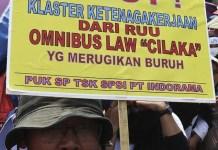Buruh Tolak Omnibus Law