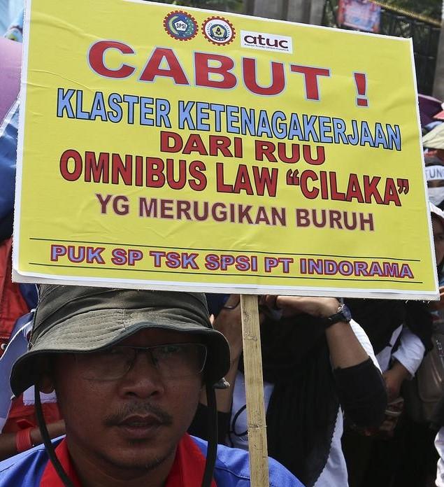 Buruh Tolak RUU Omnibus Law Cika