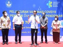 Jokowi Sekolah Tatap Muka Juli 2021