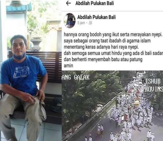 Lecehan Agama Hindu, Pemilik Akun Abdilah Pulukan Bali Ngaku Kena Hack Saat Diamankan Polisi