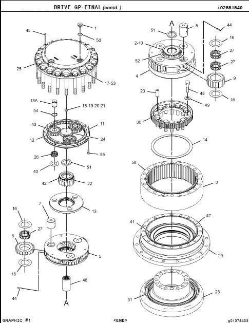 JD330 swing motor excavator swing motor hydraulic swing