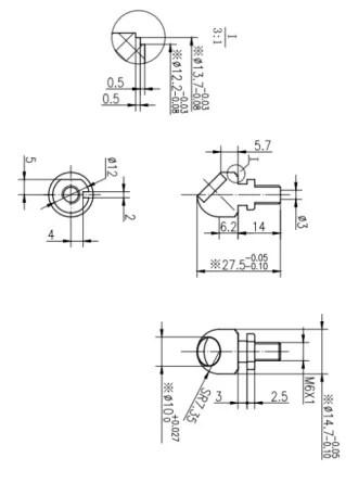 200KHz Ultrasonic Transducer Wind Speed Sensor for