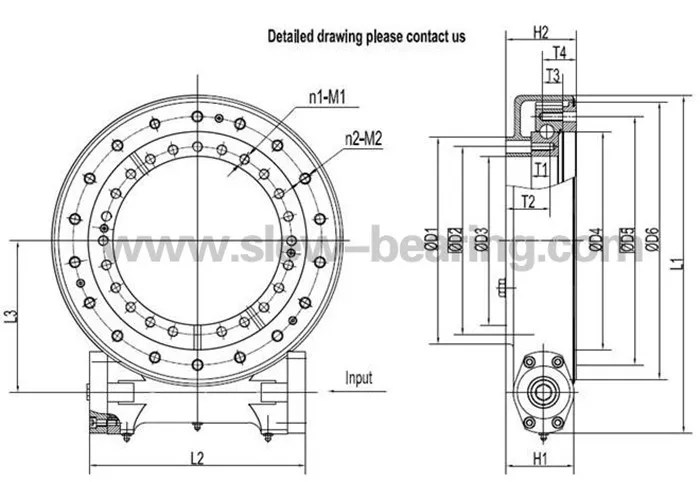 SE Series Enclosed housing slewing drive SE17 with