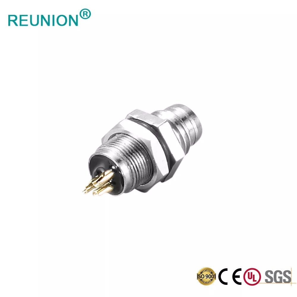 M12 D Code Female Panel Connector To Male RJ45 Pre