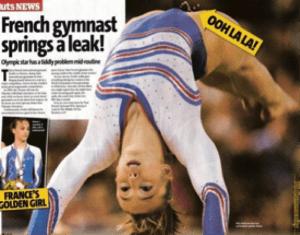 gymnast peeing