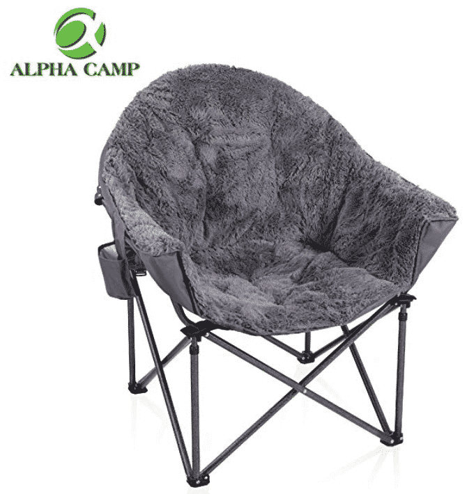 moon chairs for adults padded stack top 10 best review february 2019 a complete guide alpha camp folding oversized plush chair with cup holder and carry bag