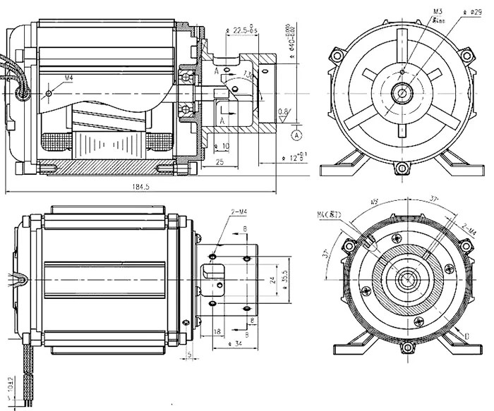 BMM Single Phase Asynchronous Electric AC Motor For Office