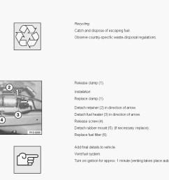 diesel fuel filter change polttoainesuodatin bmw vaihto jpg [ 1063 x 798 Pixel ]