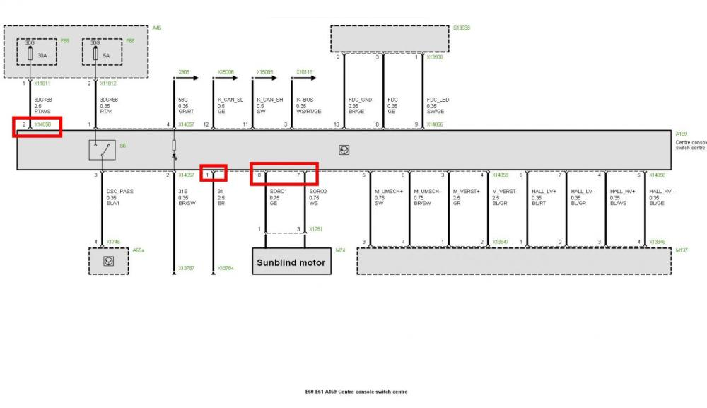 medium resolution of diy electric sunblind retrofit pre lci page 2 5series bmw e60 headlight wiring diagram bmw e60