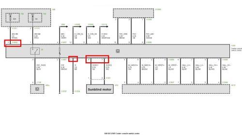 small resolution of diy electric sunblind retrofit pre lci page 2 5series bmw e60 headlight wiring diagram bmw e60