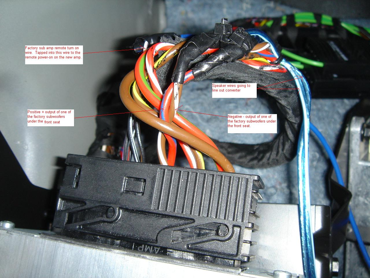 hight resolution of how to add an aftermarket sub amp dsc01015 jpg