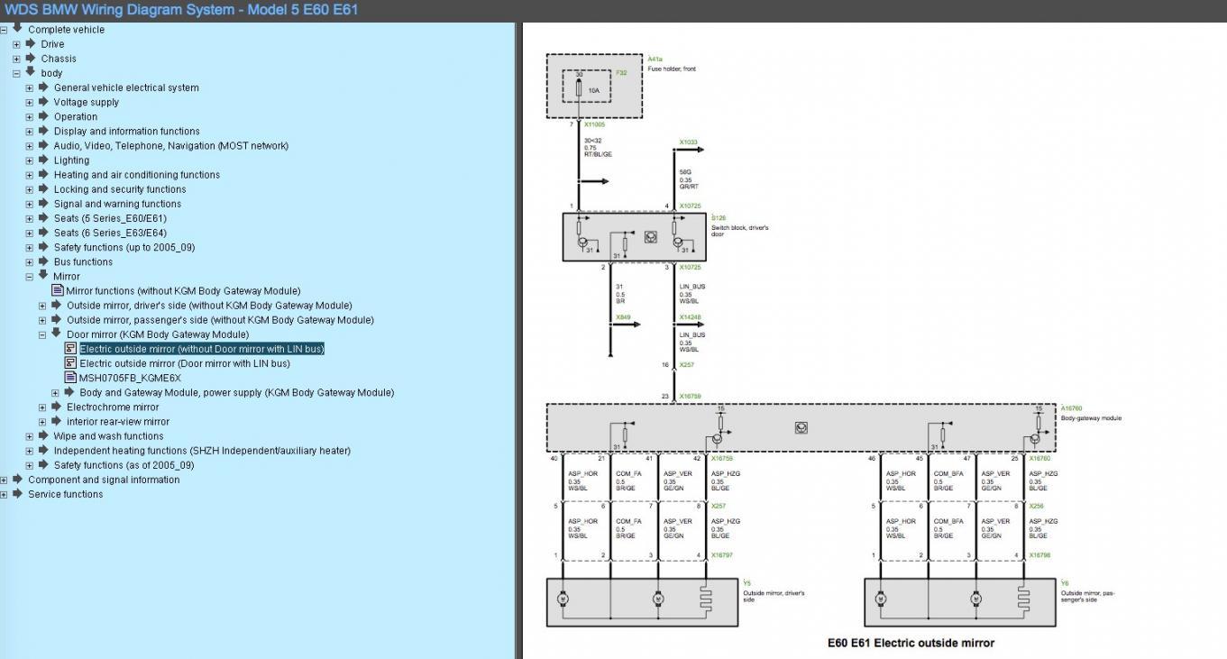 wiring diagram seats bmw m5 f10