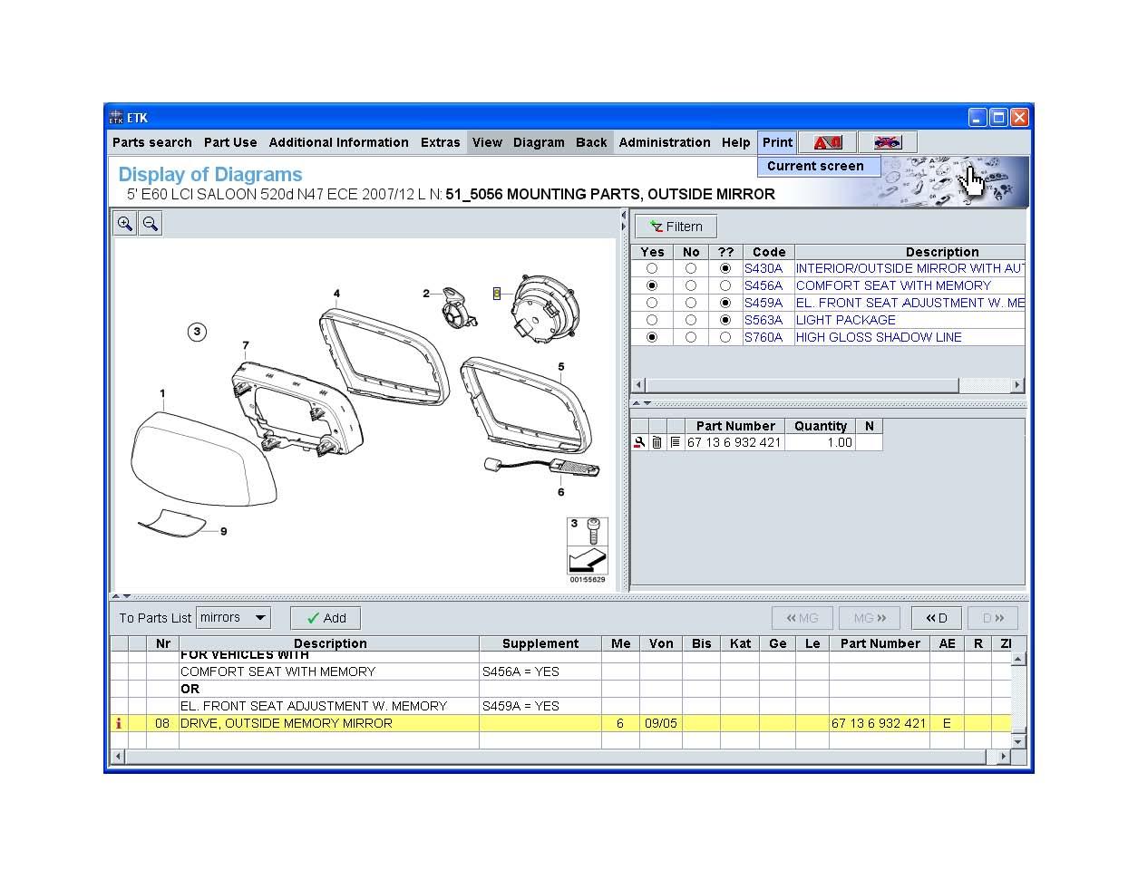 hight resolution of pre 09 05 m5 mirror wiring diagrams mirrorhousing normal jpg