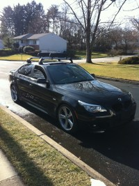 bmw e60 roof racks w/ ski/snowboard attachment