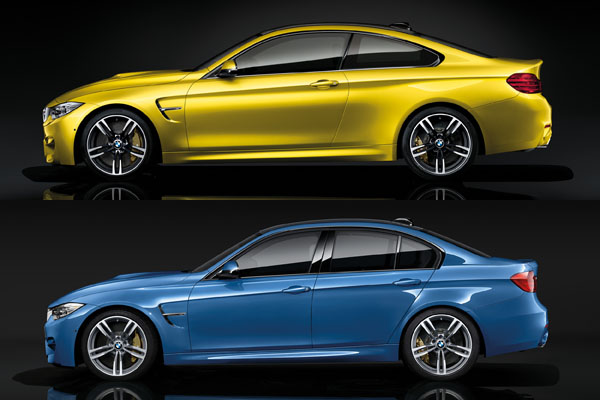 Revealed 2015 Bmw M3 Sedan And M4 Coupe 5series