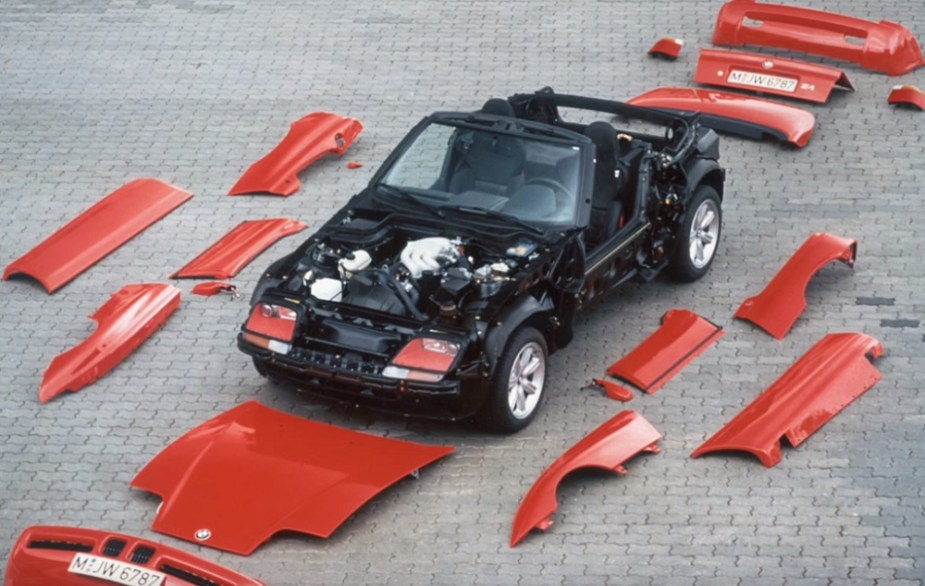 The BMW Z1's removable body panels