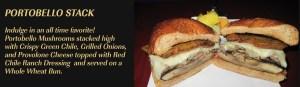 portobello stack sandwich at five star burgers