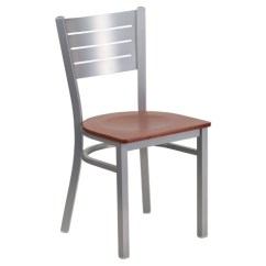 Metal Restaurant Chairs Hanging Chair Crescent Stand New Silver Slat Back Cherry Wood Seat Lot Home Furniture Seating