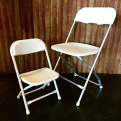 White Folding Chairs Booster Seat Or High Chair Which Is Better Garden For Weddings And Parties From 5 Star Rental Kids