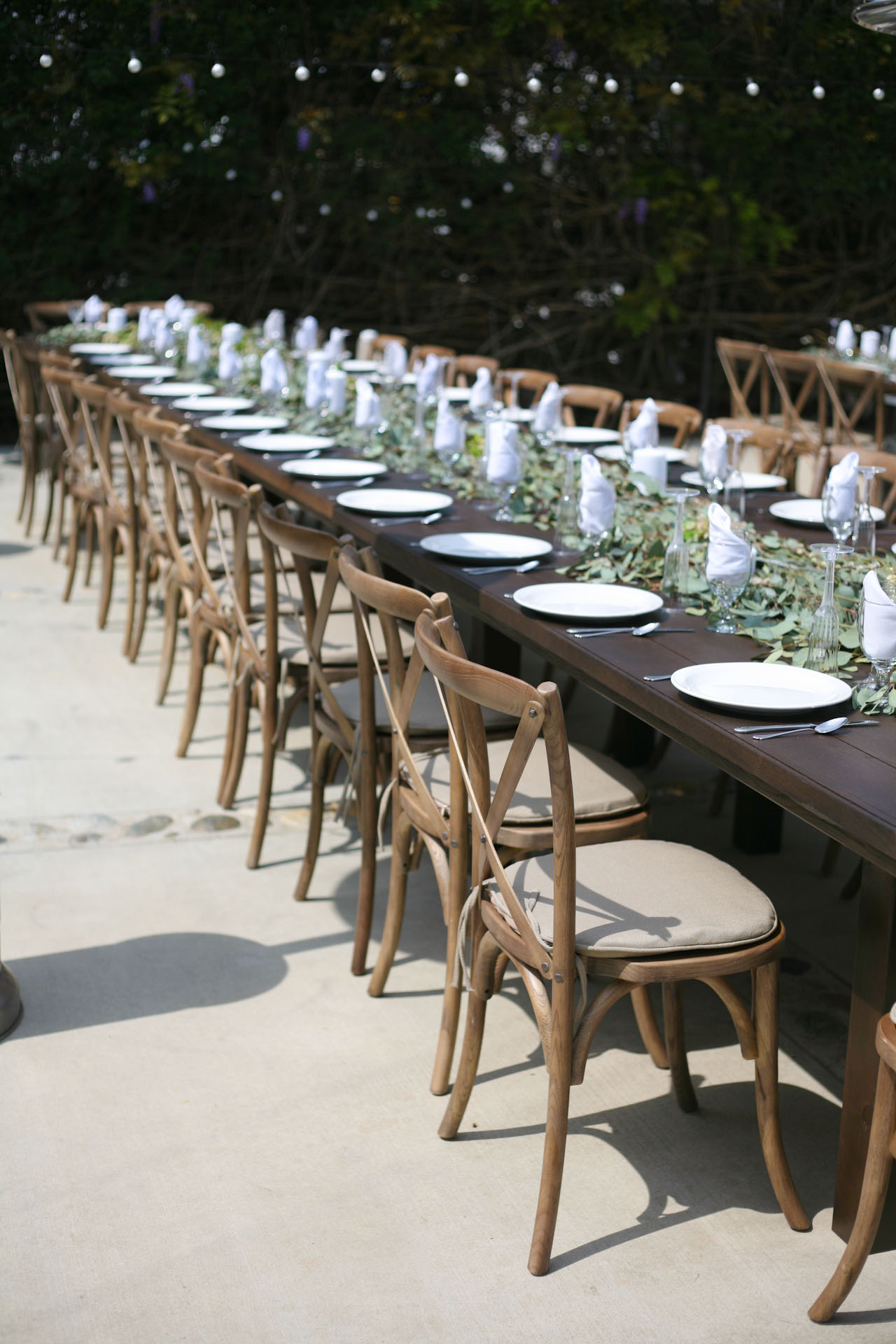 rent wedding tables and chairs lay z boy office chair cross back wood party rentals for
