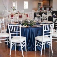 Wedding Chair Covers Mansfield Chairs At Target Store Linens Archives Party And Rentals For Denton North Navy Lamour Table Set Up