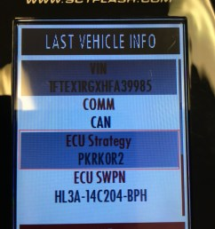 if using an sct or bully dog device on your device under vehicle information you will find your ecu strategy code an example of an ecu strategy code is  [ 3024 x 4032 Pixel ]