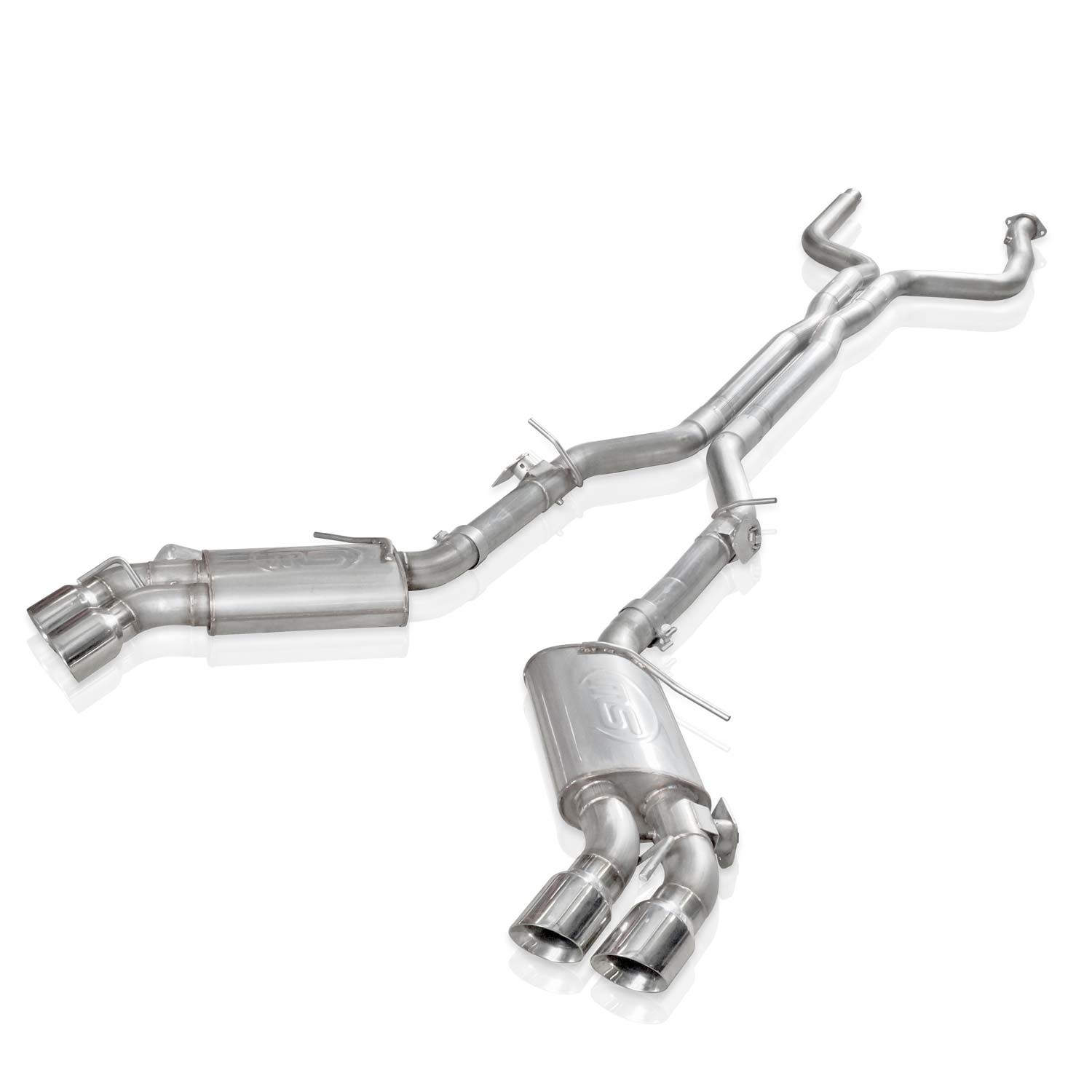 stainless works 2016 2018 camaro ss exhaust 3in x pipe afm valves npp replacement valves 4in quad tips ca16avcb