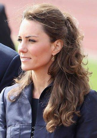 Kate Middleton Curled Hair Style
