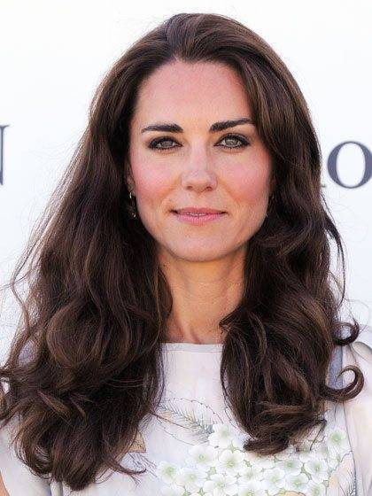 Kate Middleton With Long Curly Hair
