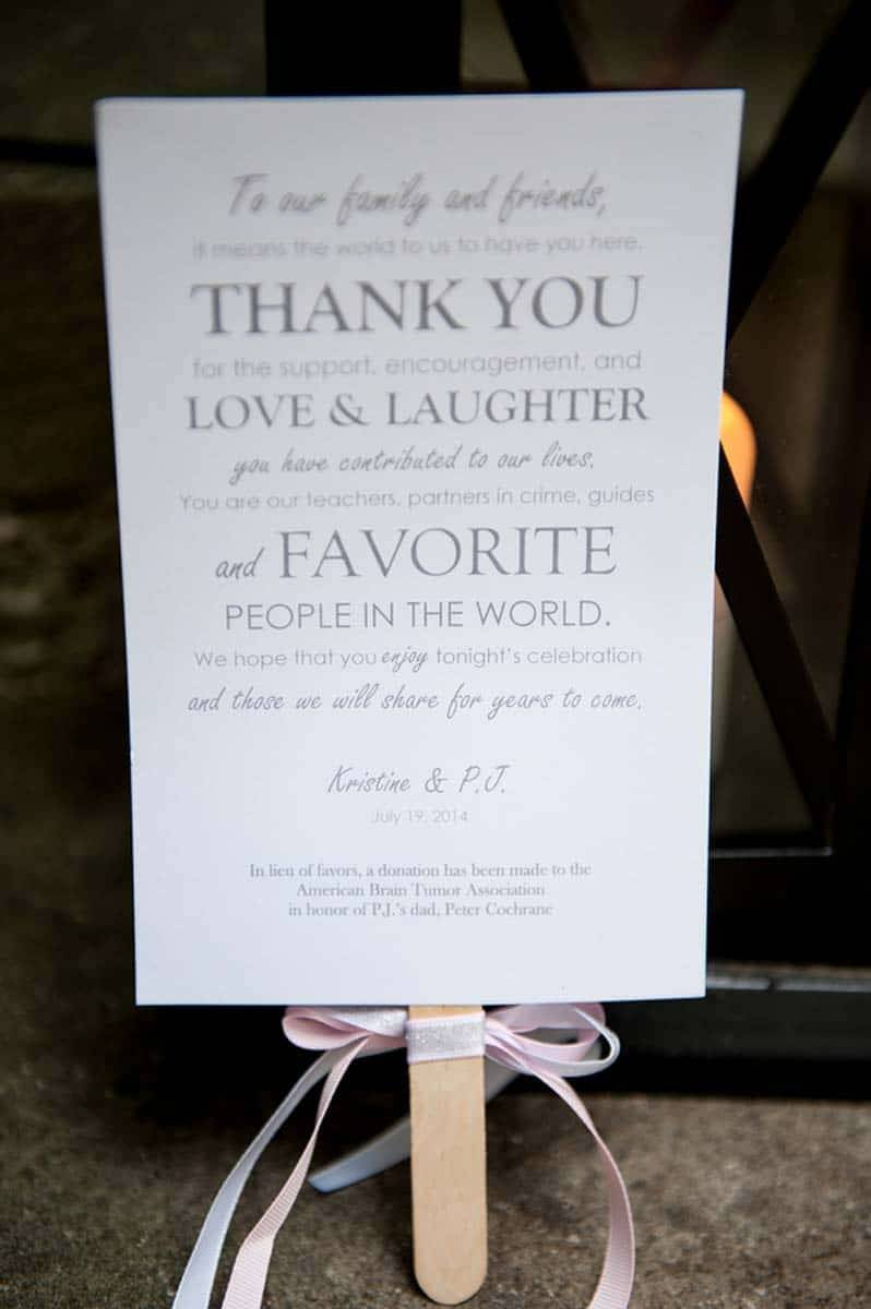 wedding thank you card to guests