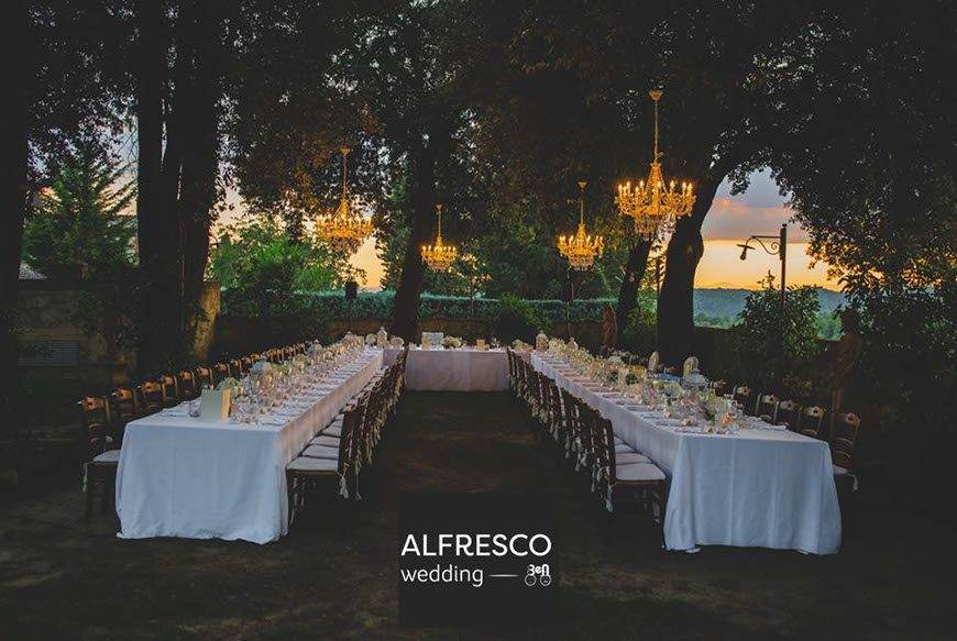 Evening Wedding Reception Tuscany