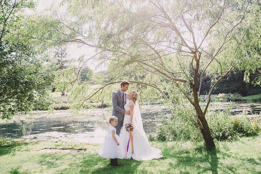 Bride and Groom At Cowley Manor