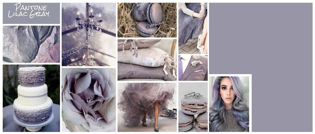 Lilac Grey Mood Board