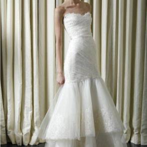 Finding the perfect wedding dress.