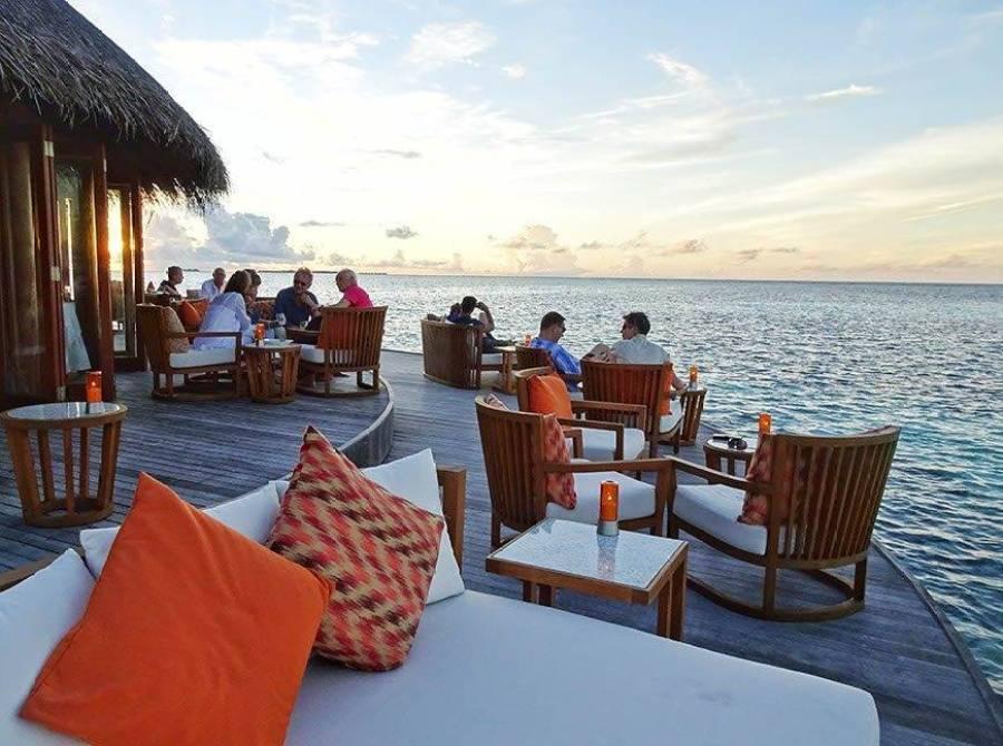 The Maldives do good sunsets
