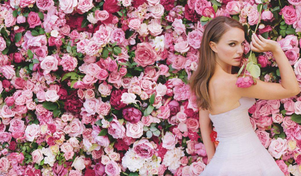 A floral wall makes a show stopping feature