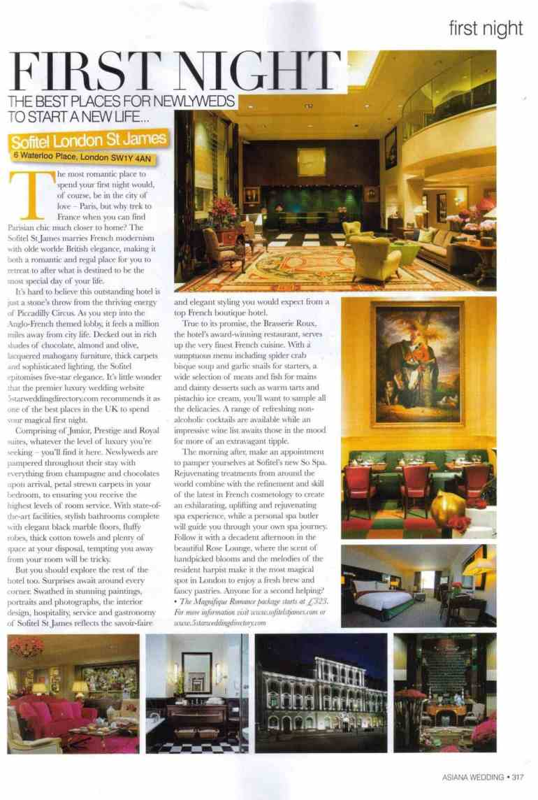 5 Star Weddings Feature In Asiana Magazine