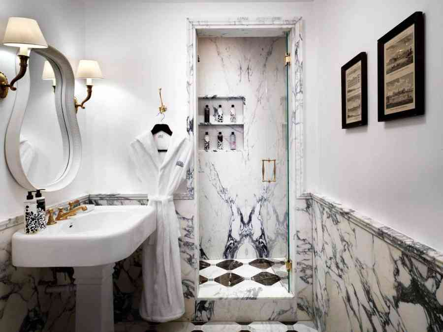 Review: The Ned - One of The Ned's gorgeous bathrooms
