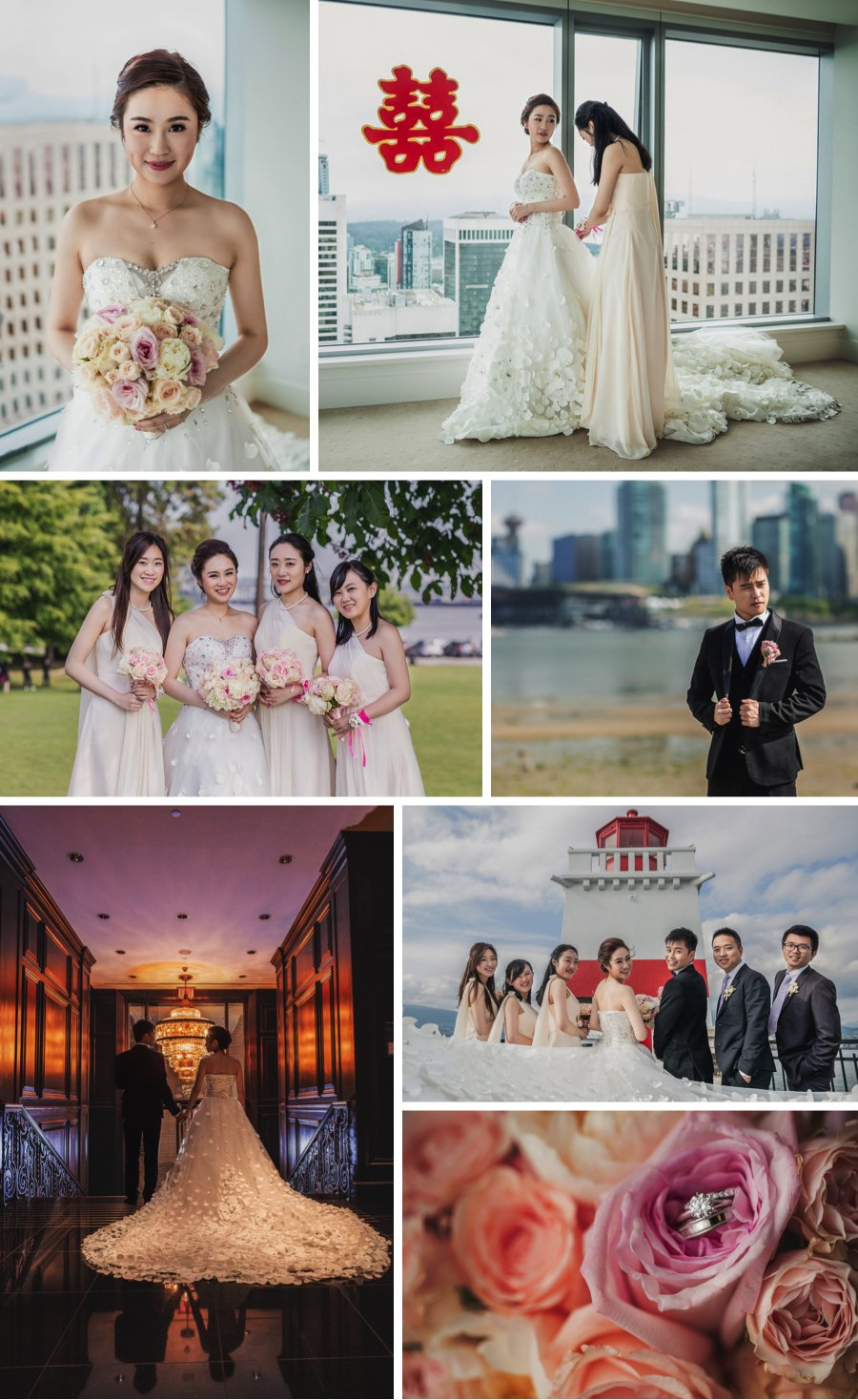 A Splash of Red in Vancouver - a real wedding