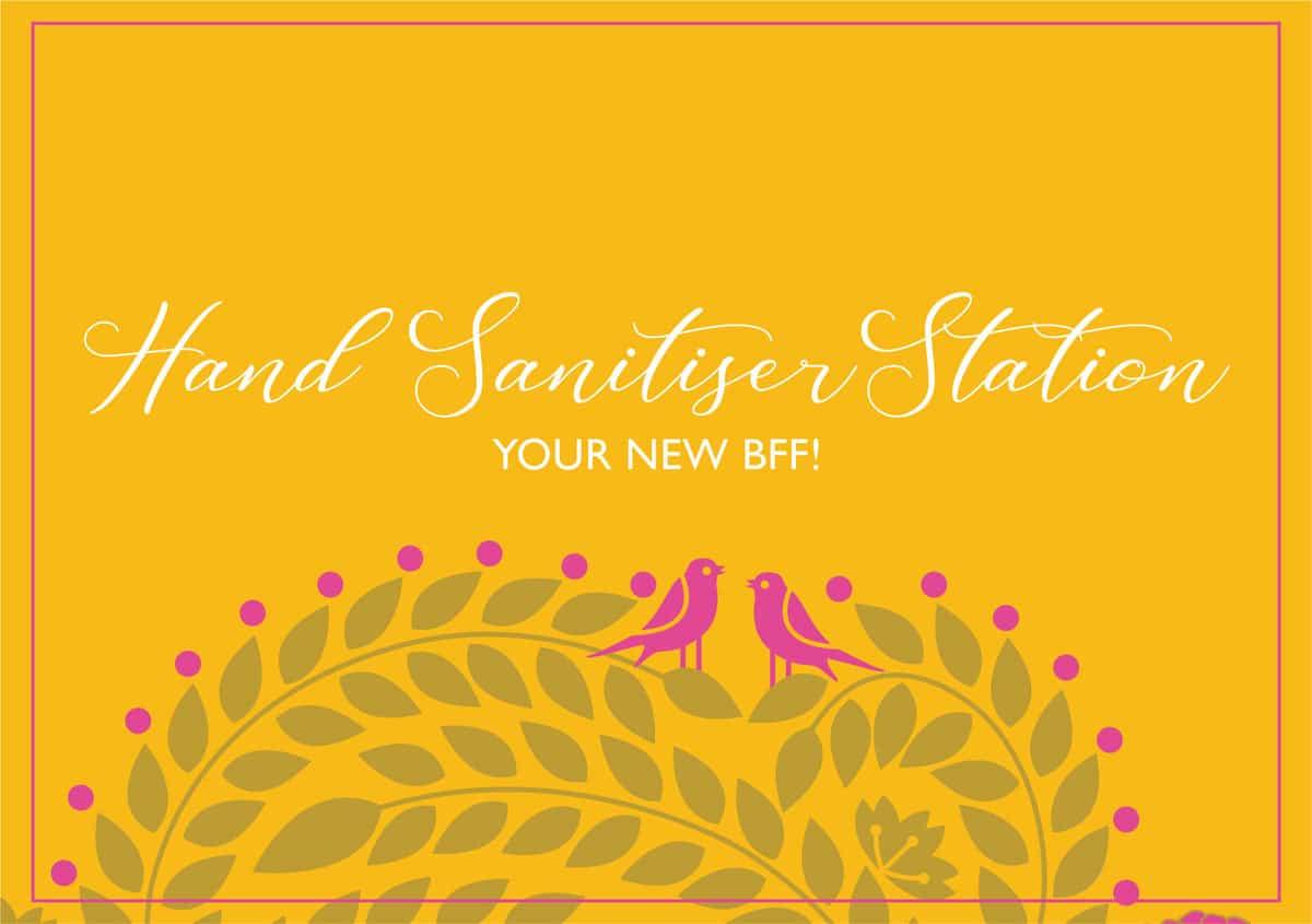 hand sanitiser station ananyacards.com