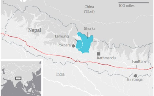 Map-of-Nepal-earthquake