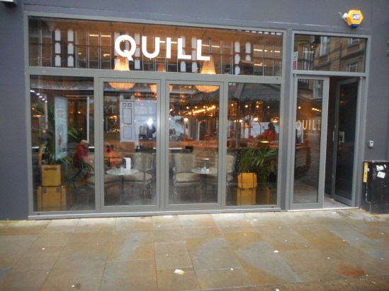 Fine dining at Quill, Manchester