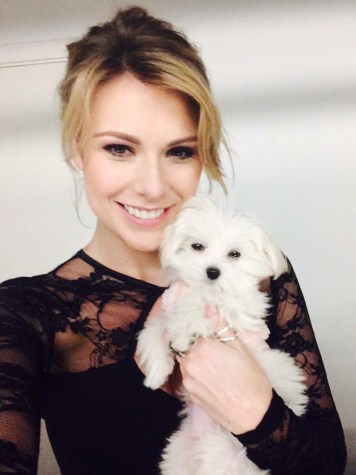 West End Star Siobham Dillon with her dog Daphne