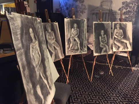 ife drawing class in a London Pub with The Merry Nude