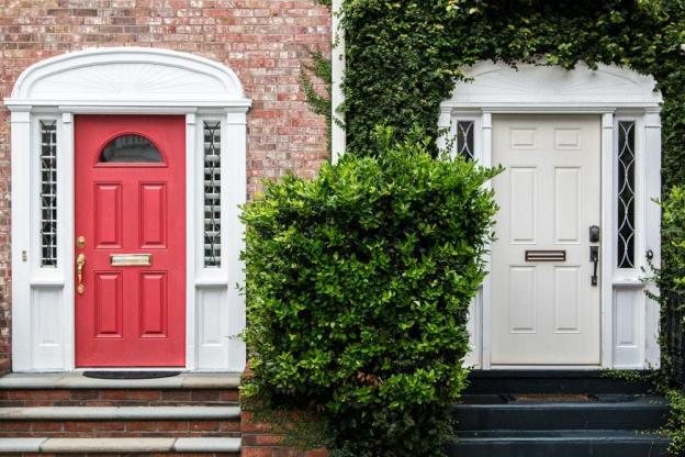 two 4-panel half lite and 6-panel doors wallpaper