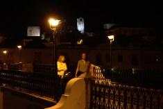 Two stranger walking in the night, Tavira