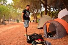 Setting camp@34ThMotorcycleMeetingMCFaro