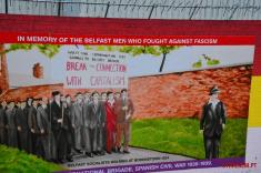 Against Facism mural Belfast